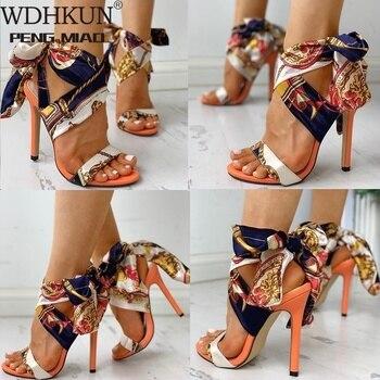 Сандалии женские на высоком каблуке, Босоножки с открытым носком, пикантная обувь на шпильке, летние туфли-лодочки