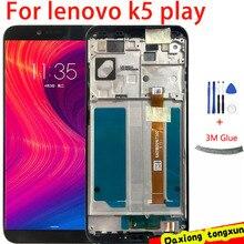 Черный/белый ЖК-дисплей 5,7 дюйма для Lenovo K5 Play L38011 + дигитайзер сенсорного экрана в сборе, замена телефона + Инструменты
