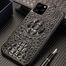 Чехол для телефона из натуральной кожи с 3d изображением крокодилового