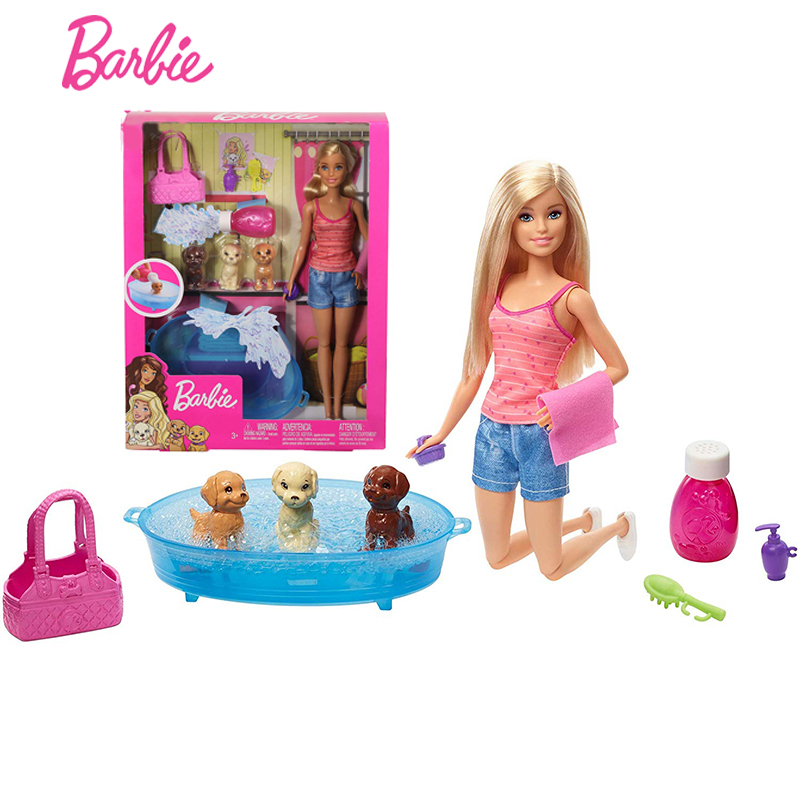 Bambola Barbie FJB36 da salone Accessori Set multi-colore
