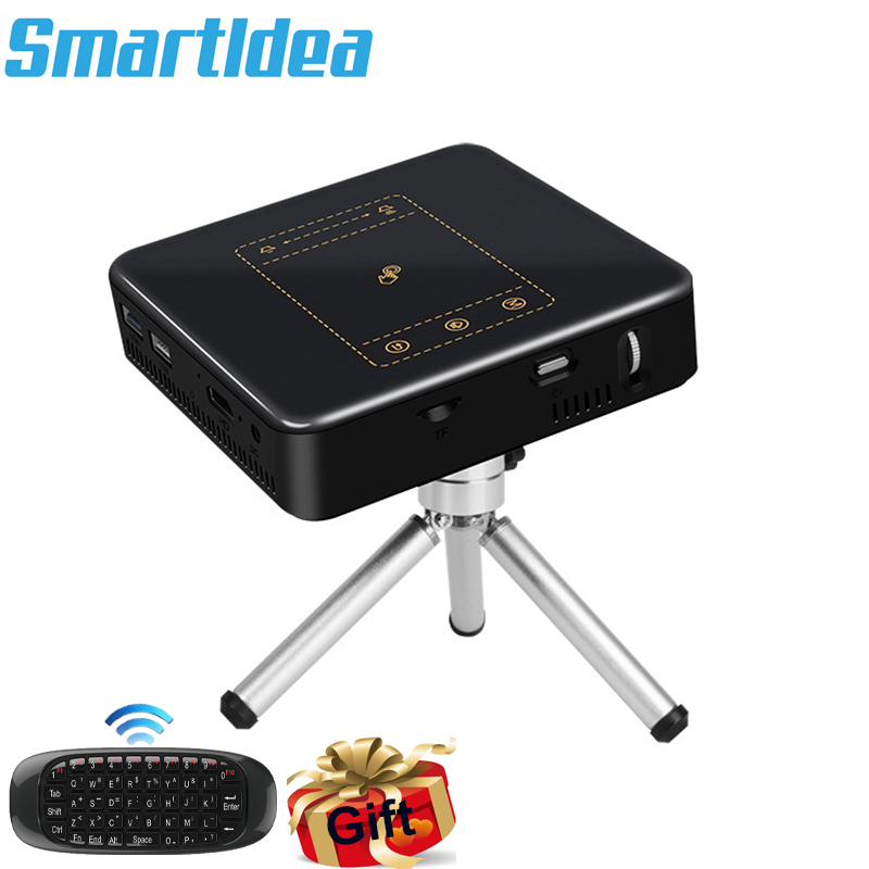 Android 7.1.2 Mobile Smart Projector 2G RAM 8000mAh Battery Support 4K 1080P HD Proyector Beam Miracast Airplay Eshare Bluetooth(China)