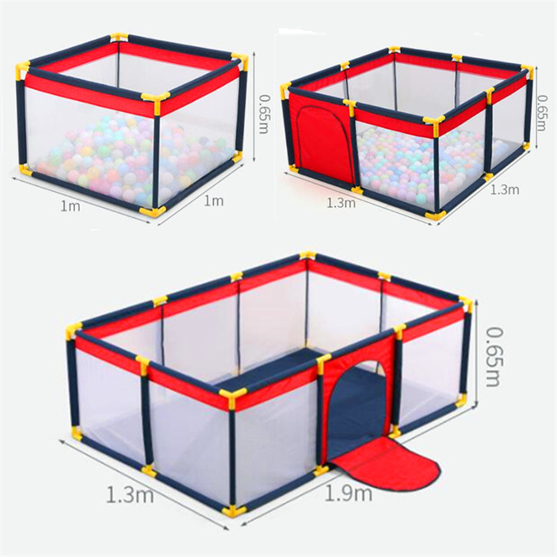 Children's Playpen Baby Play Fence Toys Kids Dry Ball Pool Foldable Fence To Train Activity Safety Barrier Infant Crawling Yard