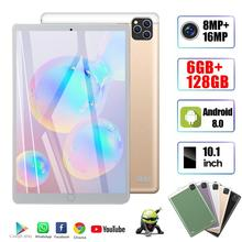 2020  New Original 10.1 inch Octa Core Tablet Pc Android 9.0 Google Play 4G Phone Call WiFi Bluetooth GPS 6G+128GB Tablets