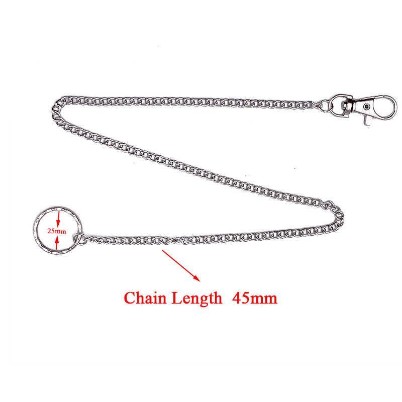 Punk Hip Hop jean métal porte-clés porte-clés hommes femmes porte-taille pantalon chaîne personnalité sac porte-clés pendentif bibelot A935