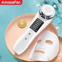 5in1 rf & ems facial instrumento de beleza de radiofrequência rosto massageador cuidados com a pele ferramenta rejuvenescimento da pele compressa quente removedor rugas