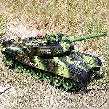 Toys Radio-Tank Tank-Model Vehicle Sound-Recoil Battle Rc Military Main 44cm Hobby Boy