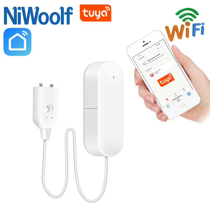 Tuya WiFi Water Leakage Detectors Water Valve Sensor Compatible With Tuyasmart / Smart Life APP