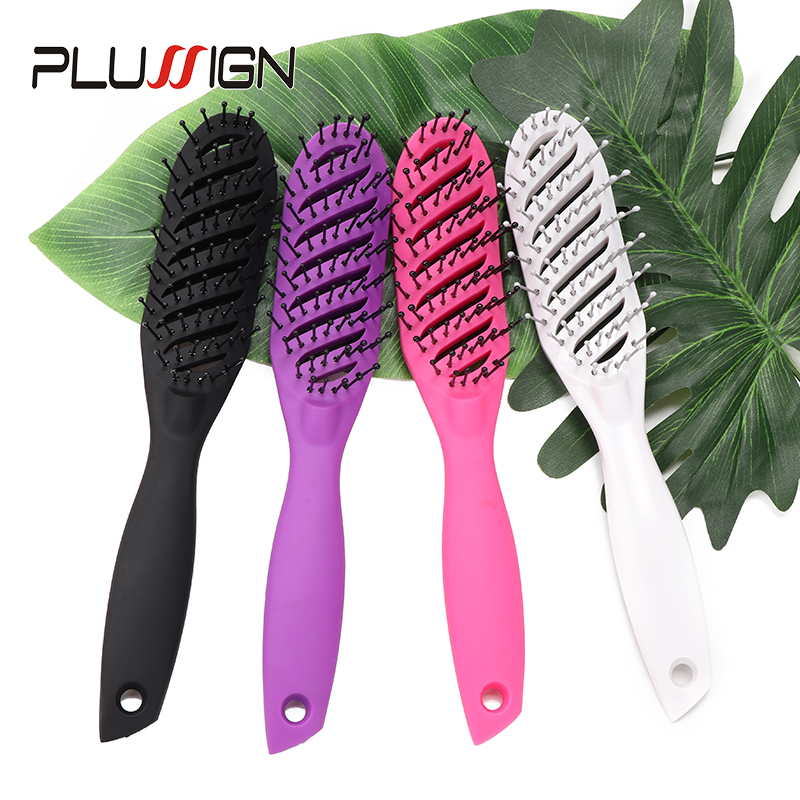 Plussign New Hair Brushes Curved Vented Styling Hair Brush, Detangling Thick Hair Massage Blow Drying Brush, Massage Hair Comb 2