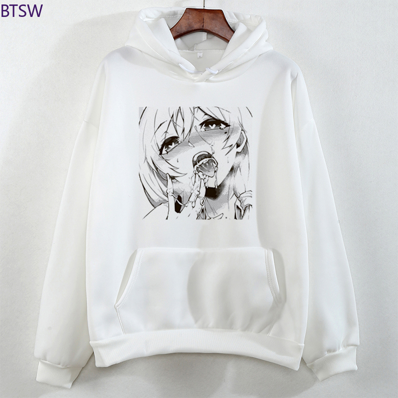 New Arrival O-Neck Hoodies Ahegao Shirt Manga Cosplay Hentai Lover Sexy Face Hoodies for Men Tops Streetwear