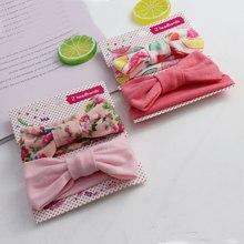 2 Pçs/set Cópia Da Flor Do Bebê Meninas Headband Bonito Crianças Elastic Headbands Newborn Faixa de Cabelo Do Bebê Meninas Acessórios Para o Cabelo