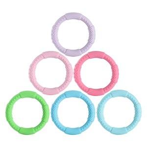 Image 1 - 3 sztuk ząbkowanie bransoletka dla dzieci silikonowa bransoletka typu Bangle dla dzieci dla dzieci do karmienia opaska na nadgarstek gryzak biżuteria przypominająca jedzenie klasy silikonowe BPA darmo