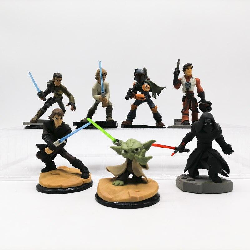 Hasbro star wars skywalker figura de ação genuína boneca yoda mestre luke obi-wan ben solo han kyloren modelo brinquedos coleção