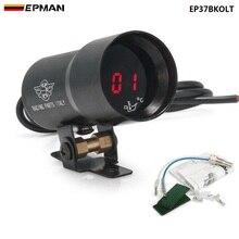 Компактный микро-цифровой дымчатая линза 37 мм-дисплей, измеритель температуры масла черный, фиолетовый для BMW 520i f10 (OEM:EP-DGT8103 )EP37BKOLT