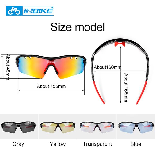 INBIKE Polarized Cycling Glasses 5 Lenses Sport Sun Glasses MTB Bike Eyewear Men Women Road Bike Goggles Bicycle Sunglasses