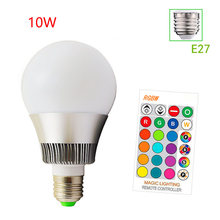 E27 E14 B22 RGB Bedroom Home Light Lamp LED Bulb Decoration Dimmable Party Color Changing Living Room With Remote Controller(China)