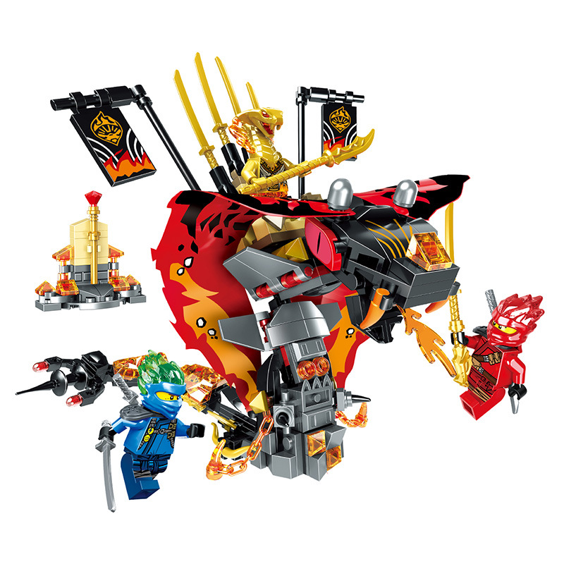 2019 nouvelle série Ninja The Cobra-like feu Fang serpent blocs de construction modèle ensembles briques classique pour enfants jouets cadeau idées compatibles Figure de film
