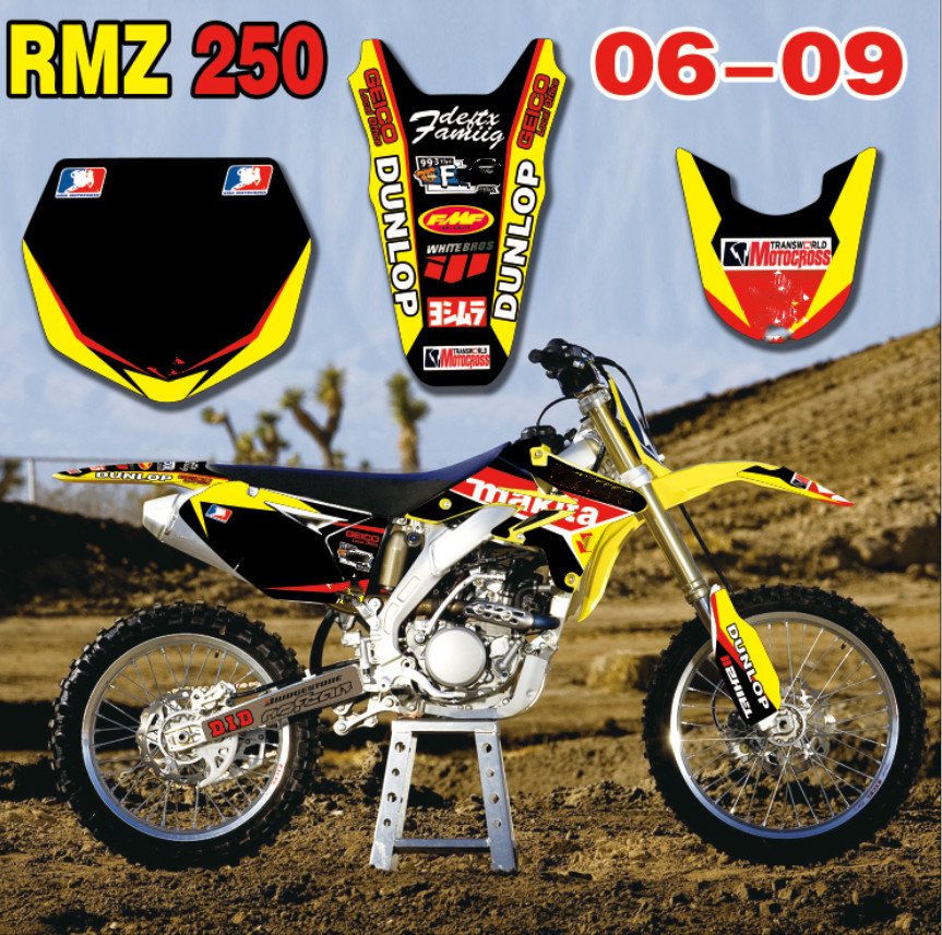 2004-2006 SUZUKI RMZ 250 GRAPHICS KIT DECALS STICKERS RMZ250 DIRTBIKE MX 2005