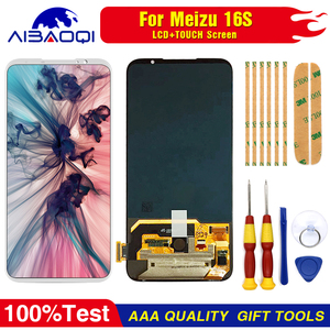 """Image 4 - AiBaoQi Original For 6.0"""" Meizu 16S 16 S LCD Display Screen+Touch Panel Digitizer For Meizu 16S AMOLED LCD Display with frame"""