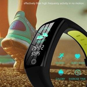 Image 5 - Pulseira inteligente bluetooth relógio de fitness rastreador sono freqüência cardíaca monitoramento de pressão arterial lembrete informações inteligente pulseira
