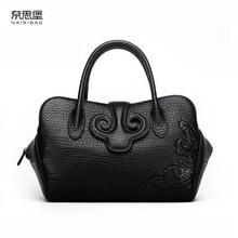 NAISIBAO 2019 New women genuine leather bag luxury handbags women bags designer fashion women shoulder Crossbody bag leather bag