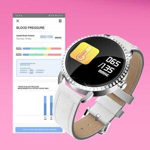 Image 4 - LIGE nowy 1.0 cal moda kobiety inteligentny zegarek mężczyźni wodoodporna pulsometr kalorii Smartwatch kobiety dla android ios iPhone