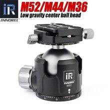 INNOREL M52 M44 M36 Basso Centro di Gravità Testa del Treppiede Nuovo smorzamento impostazione per Heavy Duty Digital SLR Telecamere Panoramica testa a sfera