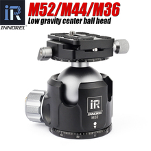INNOREL M52 M44 M36 Low Center of Gravity Tripod Head New damping setting for Heavy Duty Digital SLR Cameras Panoramic Ball