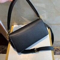 women bag genuine Leather material lady shap bag for fashion women Handbag Envelope Bag black white