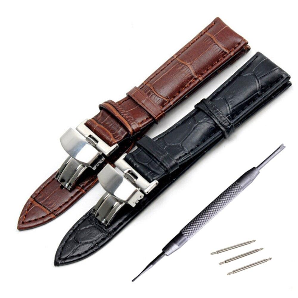 Echtes Leder Armband für Tissot Longines Mido Hamilton Uhr Band Stahl Schnalle Handgelenk Strap 14 16 17 18 19 20 21 22 23 24mm