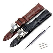 Bracelet de montre en cuir véritable pour Tissot Longines Mido Hamilton, bracelet de poignet avec boucle en acier, 14 16 17 18 19 20 21 22 23 24mm