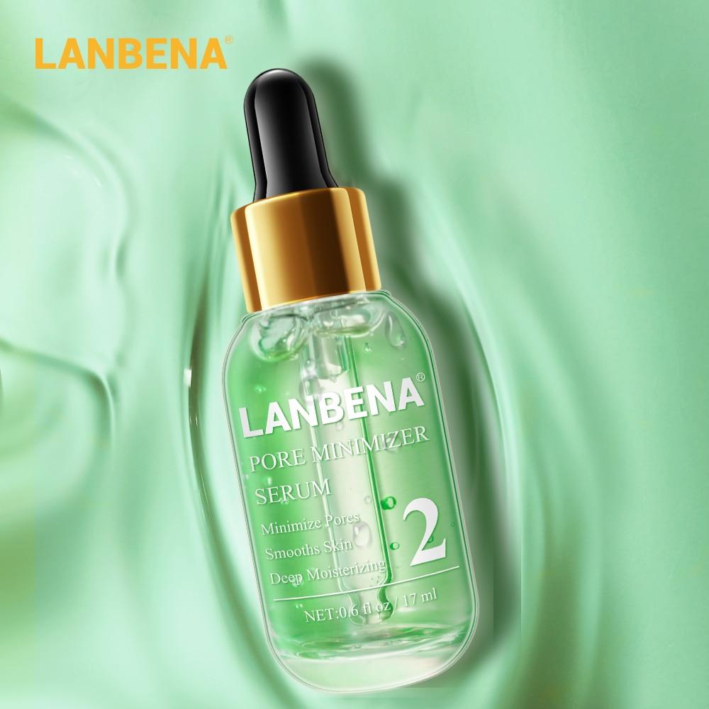 LANBENA Pore Minimizer Serum Skin Care Shrink Pores Peeling Acne Treatment Refining Essence Deep Cleaning Smooth Relieve Dryness
