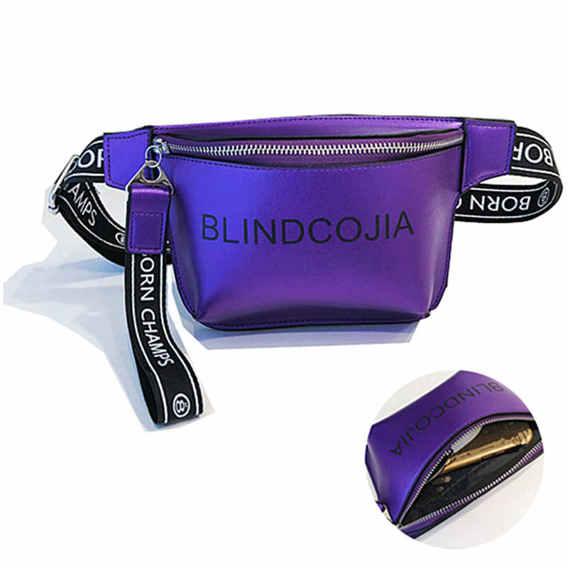 Waist Bag Women Girls Fanny Packs Colorful Unisex Waist Packs Belt Bag Pouch For Zippered Packets 105cm Strap Length Mini Bags
