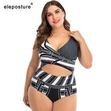 2020 Sexy Plus Size Badmode Vrouwen Een Stuk Badpak Vrouwelijke Holle Out Badpakken Summer Beach Wear Grote Maat Zwemmen pak