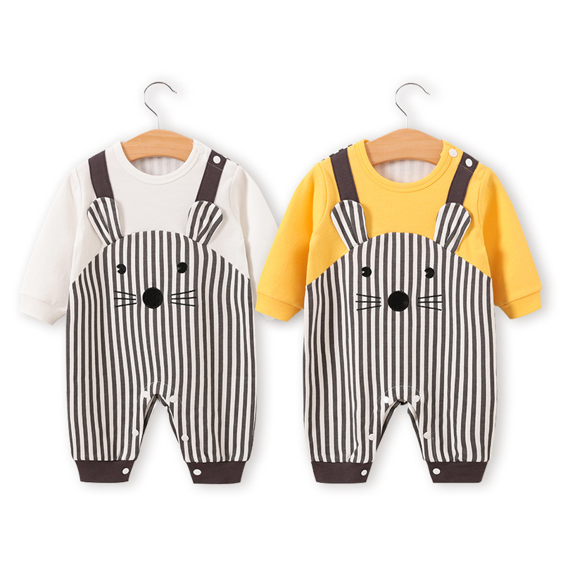 Infant Mouse Costume | New Born Baby Boy Clothes Cartoon Mouse Costume Newborn Rompers Carters Twins Infant Jumpsuits Pajamas Babygrow Clothing Things