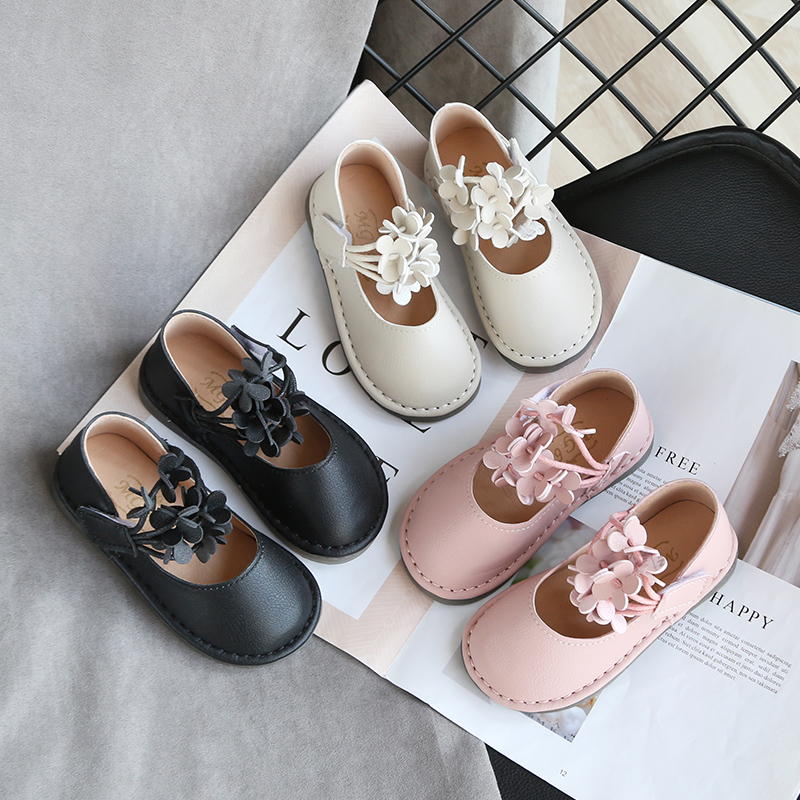 New Bow Girl Leather Shoes For School Autumn Party  Dance Kids Princess Single Shoes Cute Nine Style SMG073