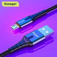 Essager Micro USB Kabel Schnelle Lade Daten Draht Kabel Für Samsung Xiaomi Android Handy 2M Micro USB Ladegerät schnur