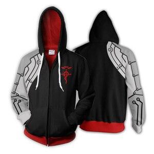 Image 4 - Fullmetal Alchemist Edward Elrics Autumn Zipper Jacket Hoodie 3D Anime Cosplay Sweatshirts Tracksuits Tops Clothes