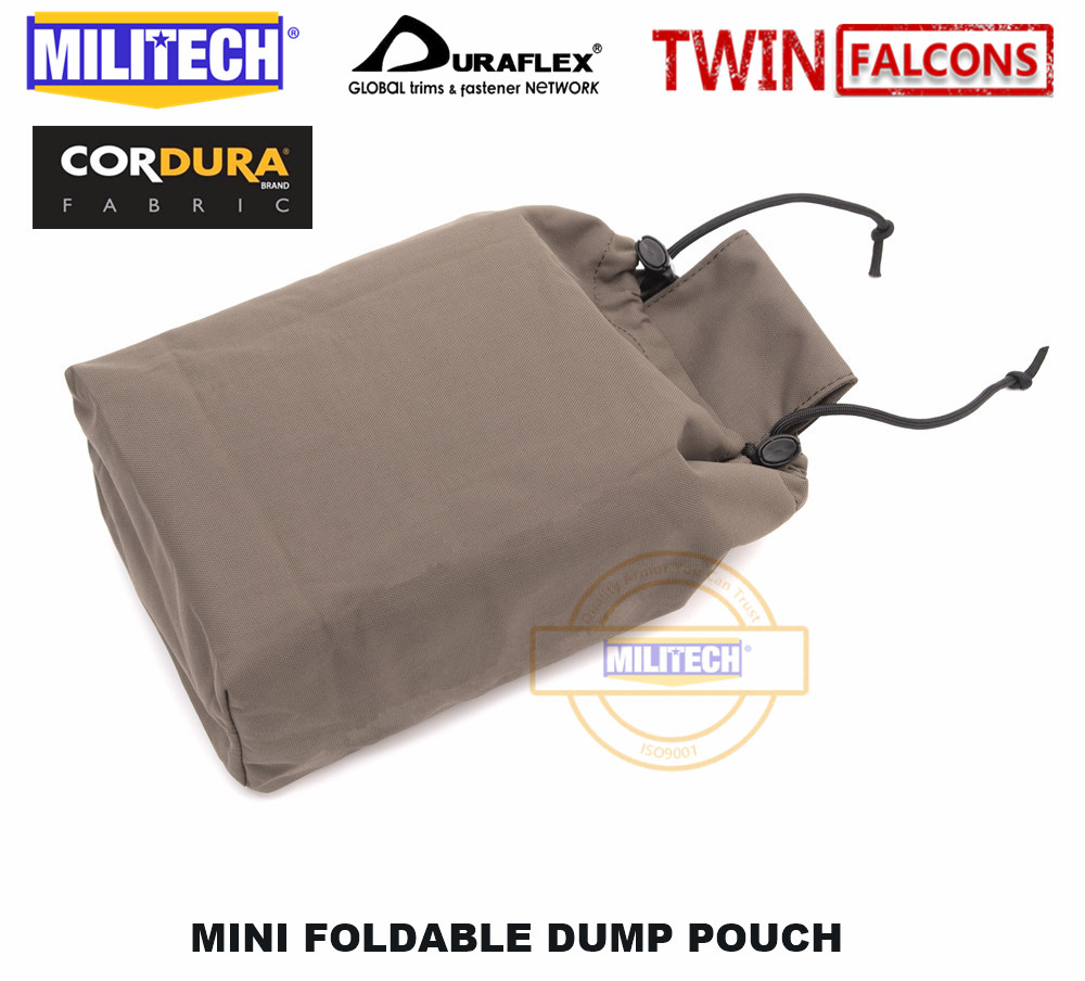 MILITECH First FS Spear First MINI Foldable Magazine Drop Dump Pouch TWINFALCONS TW Delustered 500D Cordura Made Magazine Pouch