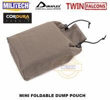 MILITECH MINI bolsa plegable para reciclaje de revistas, Cangurera plegable de tiro rápido, TWINFALCONS TW, 500D Cordura