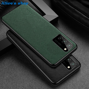 Image 1 - Fashion Cross Genuine Leather & TPU Back Case For Honor View30 V30 Pro Luxury Slim Shockproof Cover Case For Honor View 30 Pro