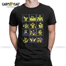 Mens T Shirt Classic Gold Saints Humor Tee Shirt Saint Seiya Knights of the Zodiac Anime T Shirt Crewneck Clothes Plus Size