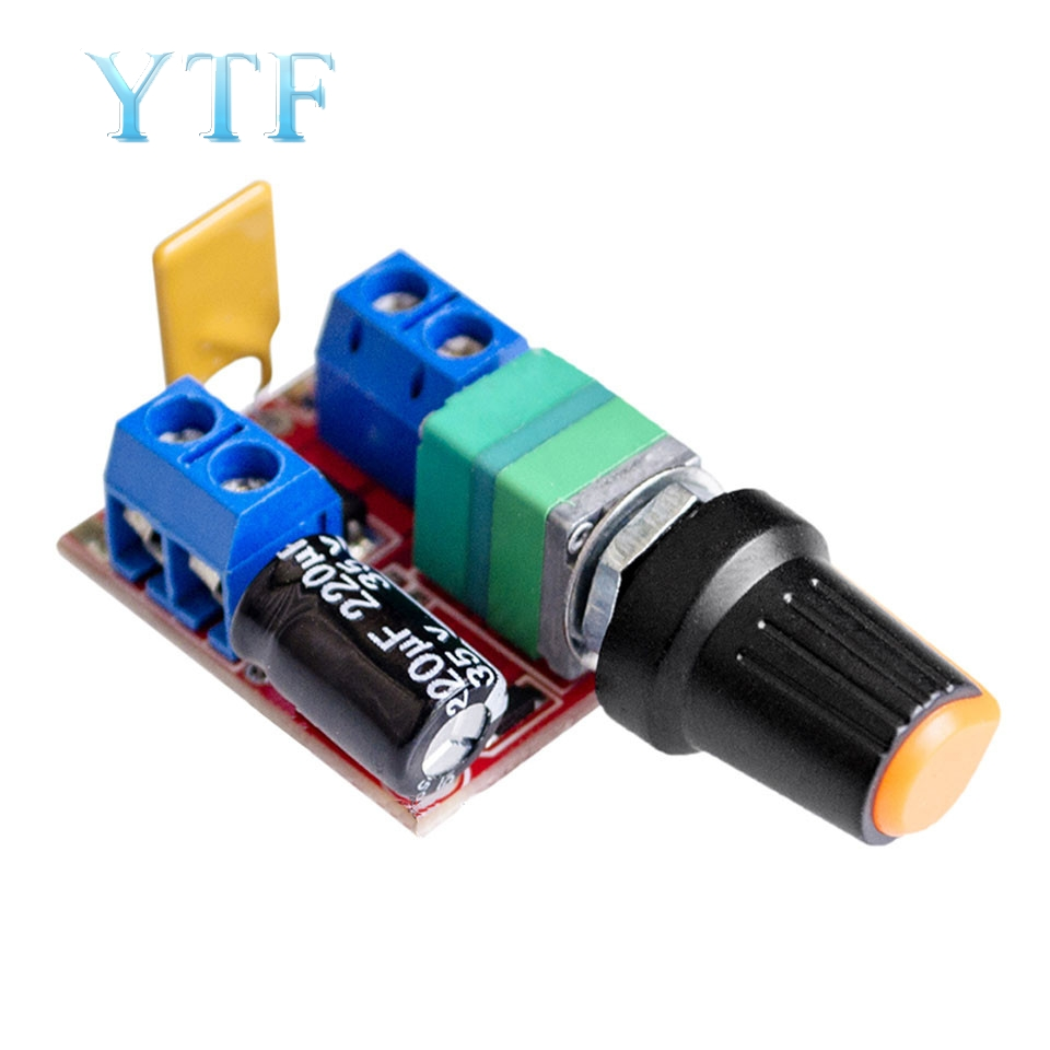 Mini DC Motor PWM Governor 3V6 12 24 35V Speed Switch Ultra Small LED Dimmer 5A
