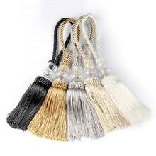 2 pçs contas de cristal borla franja pendurado corda trançado artesanato borlas pingente diy chave borla guarnição cortina gabinete decoração para casa