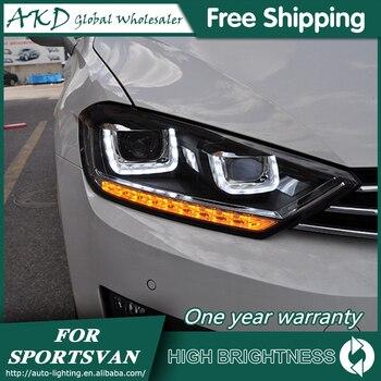 Headlights For Car VW Golf 7 Sportsvan 2016-2018 Golf7 DRL Day Running Light Head Lamp LED Bi Xenon Bulb Fog Lights Tuning Car