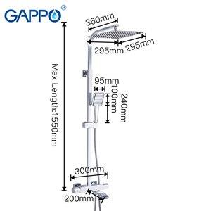 Image 2 - GAPPO douchekraan thermostatische badkamer kraan thermostatische mengkraan wall mounted regendouche set mengkraan douche systeem