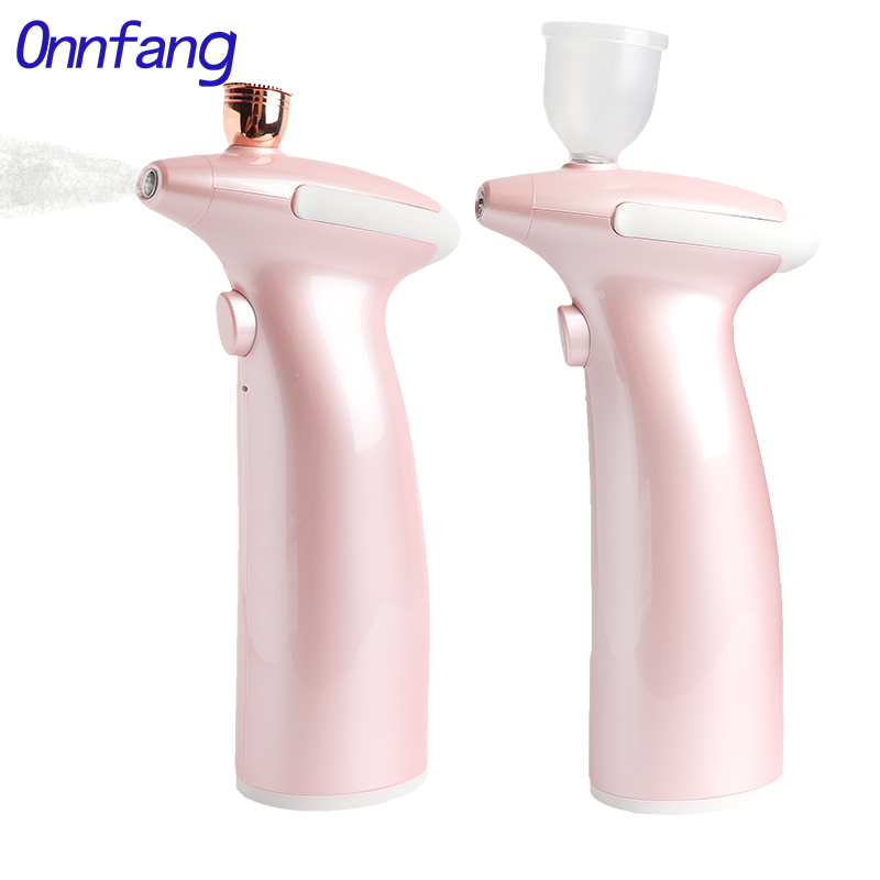 Onnfang Newest 0.3&0.5 Mm Airbrush Portable Charger Air Compressor Set 2 Speed Integrated Spray Gun 2cc&15ml DIY  Makup Essence