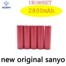 цена на GZSM 18650 battery for Sanyo UR18650ZT rechargeable battery 2800mAh 3.7V 6A For cigarette battery