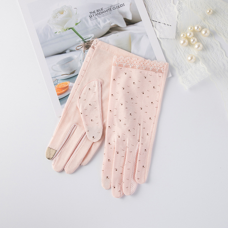 Summer Sunscreen Wrist Driving Gloves Women Simple Breathable Gray Black Glove Stretch Touch Screen Anti Uv Slip Resistant Glove
