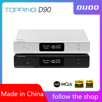 TOPPING D90/D90 MQA AK4499 AK4118 Full Balanced DAC Bluetooth 5.0 DSD512 Hi-Res Decoder Ultimate Edition