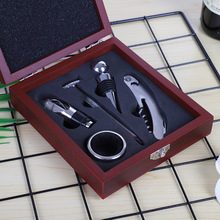 Wooden box five-piece stainless steel wine bottle opener set red Wine accessories